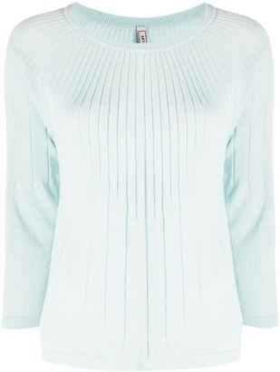 Antonio Marras Ribbed 3/4 Sleeves Pullover