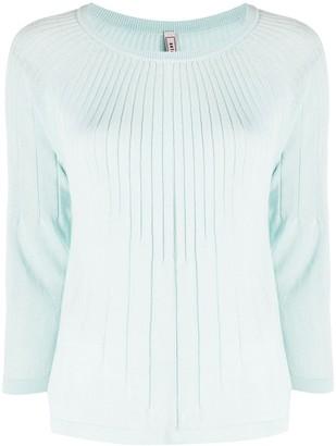 Antonio Marras Ribbed 3/4 Sleeves Pullover
