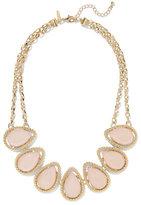 New York & Co. Teardrop Faux-Stone Bib Necklace