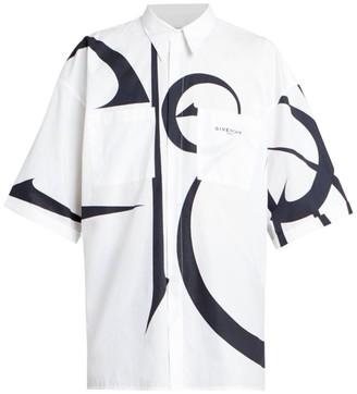 Givenchy Printed Oversized Short-Sleeve Shirt