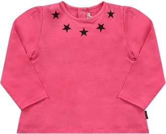 Givenchy Fucshia Babygirl T-shirt With Black Stars