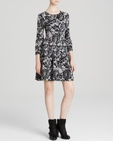DKNY Fit and Flare Jacquard Dress