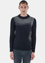 Saint Laurent Men's Nashville Studded Sweater In Black