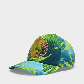 Versace Jungle Cap In Printed Cotton