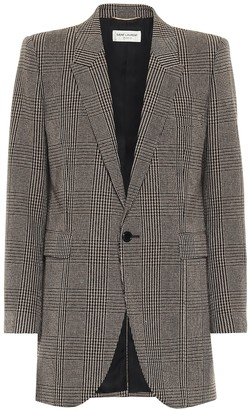 Saint Laurent Checked wool-blend blazer