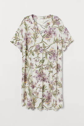 H&M V-neck Dress - White
