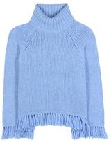 Tory Burch Jennifer fringed turtleneck sweater