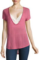 Self Esteem Short Sleeve Layered Top Juniors