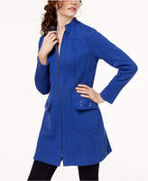 INC International Concepts Stand-Collar Ponté-Knit Zip Coat, Created for Macy's