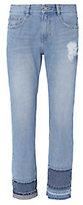 Sjyp Multi Hem Straight Cropped Jeans