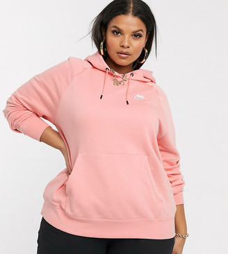 Nike Plus pale pink essentials hoodie