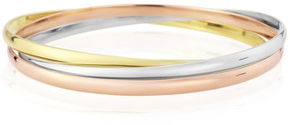 Auree Jewellery Walton 9Ct Gold Russian Wedding Bangle 3Mm