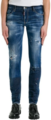 DSQUARED2 Skinny Jeans With Stains