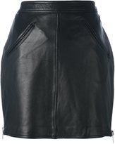 Jeremy Scott fringed short skirt - women - Polyester/Sheep Skin/Shearling - 40