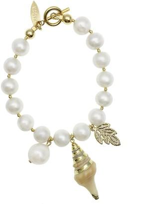 Farra Freshwater Pearls Dangles Bracelet
