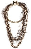 Christian Dior Multistrand Textured Necklace