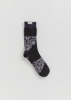Sacai Patterned Patchwork Socks