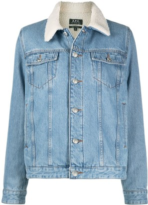 A.P.C. Contrast Collar Jacket