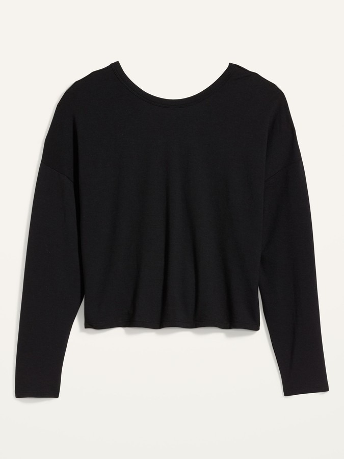Old Navy UltraLite French Terry V-Back Sweatshirt for Women