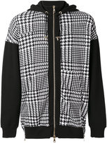Balmain houndstooth print hoodie - men - Cotton - S