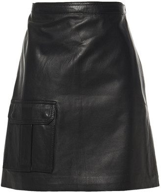 Muu Baa Muubaa Leather Mini Wrap Skirt