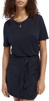 Scotch & Soda Crewneck Linen T-Shirt