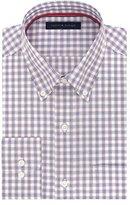 Tommy Hilfiger Men's Non Iron Regular Fit Check Buttondown Collar Dress Shirt