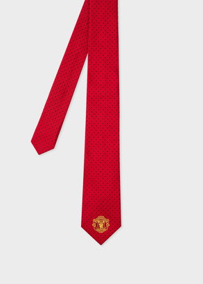 Paul Smith & Manchester United - Red Polka Dot Narrow Silk Tie