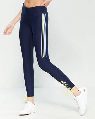 Splendid Lace-Up Side Stripe Leggings