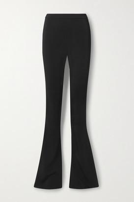 Cushnie Stretch-crepe Flared Pants - Black
