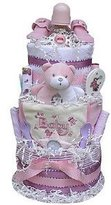 Baby Gift Idea 3 Tiered Diaper Cake for Girls