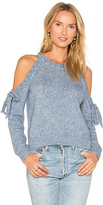 Milly Tie Shoulder Sweater in Blue