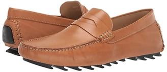 Massimo Matteo Tonal Penny Driver (Burnished Tan Leather) Men's Slip on Shoes