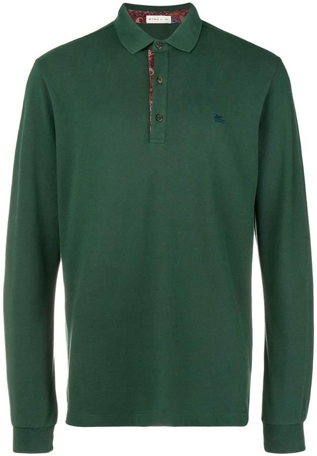 Etro front button polo shirt