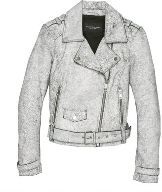 Marc New York   Final Sale Madison Crackle Leather Jacket