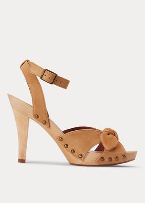 Ralph Lauren Suede Clog Sandal