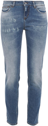 Dolce & Gabbana Distressed Low-rise Slim-leg Jeans