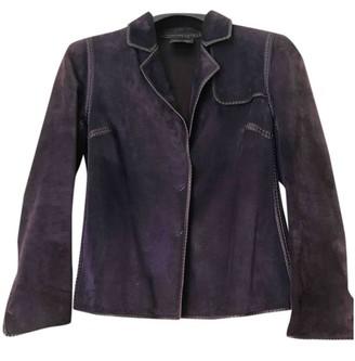 Fendi Purple Suede Leather Jacket for Women