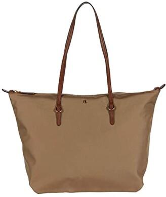 Lauren Ralph Lauren Keaton 31 Tote (Clay) Tote Handbags
