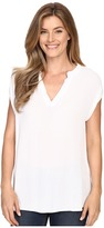 Allen Allen Split Neck Top