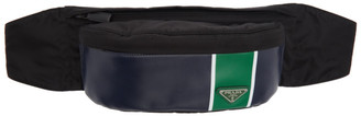 Prada Blue and Green Leather Pouch