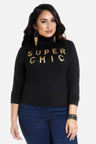 Fashion to Figure Super Chic Mock Neck Top