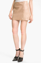 T by Alexander Wang Leather A-Line Miniskirt