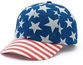 Mudd Women's Americana Stars & Stripes Baseball Hat