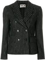 Hache pinstripe double breasted jacket