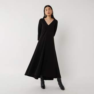 Warehouse LONG SLEEVE V NECK DRESS