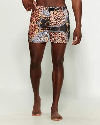 Compton Animal Print Swim Shorts