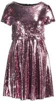 TFNC THEA MINI SKATER Cocktail dress / Party dress pink/silver