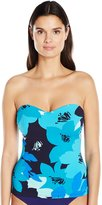 Anne Cole Women's Full Bloom Underwire Bandeau Tankini