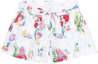 MonnaLisa Printed cotton shorts